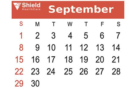 Shield HealthCare September Calendar