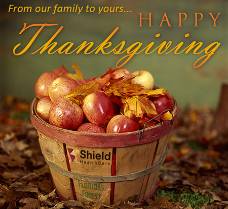 Happy Thanksgiving From Shield HealthCare