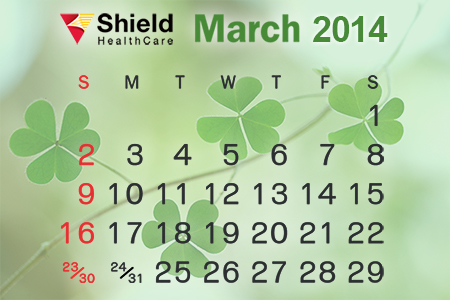 Shield HealthCare March 2014 Calendar