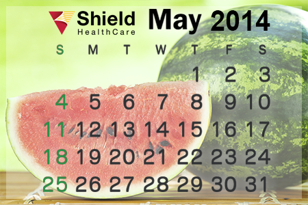Shield HealthCare May 2014 Calendar