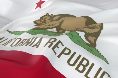 Falling California State Flag