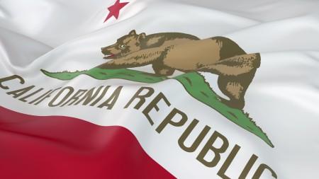 Falling California State Flag