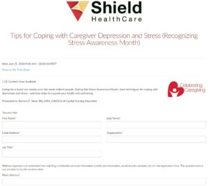Tips for Coping with Caregiver Depression and Stress Webinar