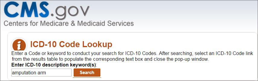 ICD-10 Code Lookup Tool