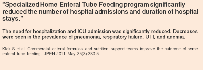 home tube feeding