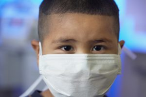 child with a poor immune system