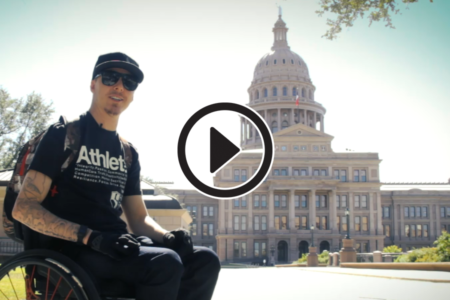 using a wheelchair in Austin