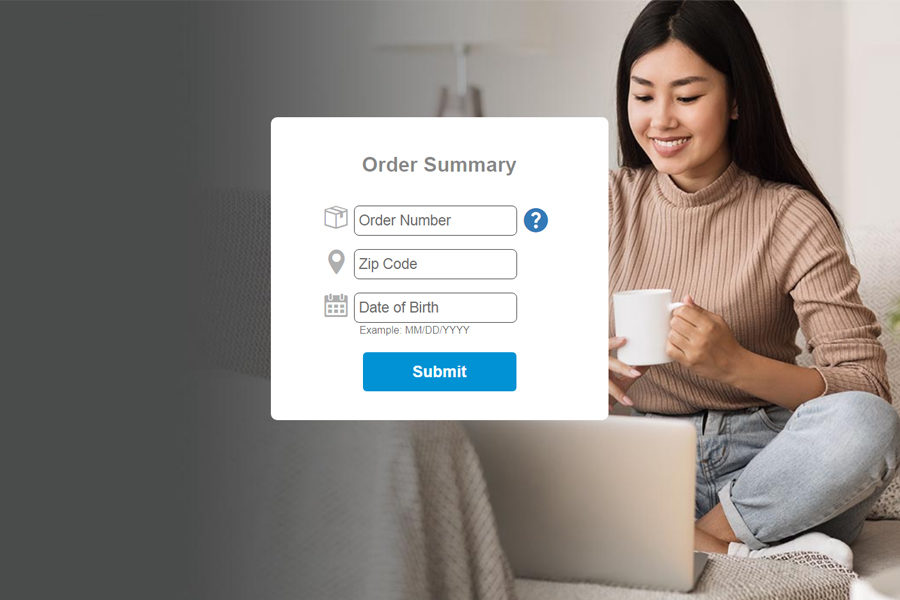 online order summary