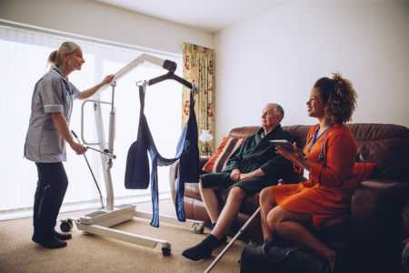 Lifting techniques for caregivers